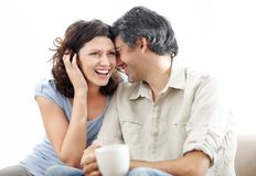 Beautiful mature couple sitting together Stock Photography