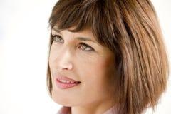 Beautiful Mature Woman. Close-up of a beautiful mature woman Royalty Free Stock Photo