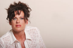 Beautiful mature woman Stock Images
