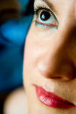 Beautiful mature woman. With glamor make-up  close up portrait Royalty Free Stock Photography