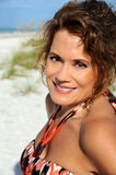 Beautiful Mature Woman. Outdoor Portrait of a Beautiful Mature Woman Stock Photo