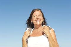 Beautiful mature woman active reitrement Royalty Free Stock Image
