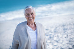 Beautiful mature woman day dreaming Stock Image