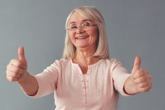 Beautiful mature woman Royalty Free Stock Images
