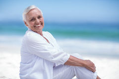 Beautiful mature woman posing Stock Photography