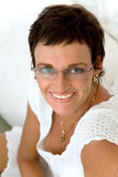 Beautiful mature woman smiling Royalty Free Stock Photography