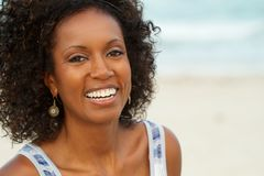 Beautiful mature woman smiling. Royalty Free Stock Images