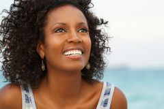 Beautiful mature woman smiling. Stock Photography