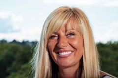 Beautiful Mature Woman Smiling. Close up Stock Image