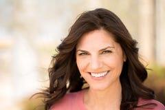 Beautiful mature woman smiling. Royalty Free Stock Photo