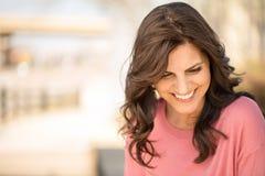 Beautiful mature woman smiling. Stock Photos