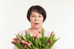 The beautiful mature woman Stock Images