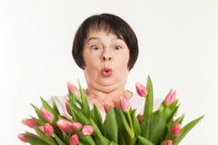 The beautiful mature woman Stock Image