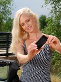 Beautiful mature woman on vacation Royalty Free Stock Photo