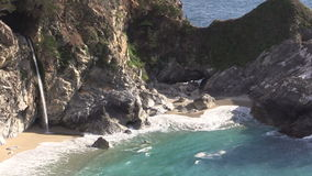 Beautiful McWay Falls Big Sur California stock footage
