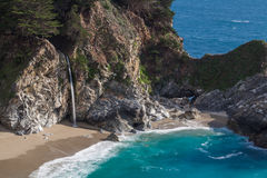 Beautiful McWay Falls. Scenic McWay falls along the coast near Big Sur California Royalty Free Stock Photography