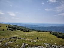 Mountain landscape. Beautiful meadow and mountain landscape in Romania Royalty Free Stock Photo