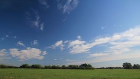 Beautiful meadow time lapse. Summer in full HD. Clouds moving above the meadow stock footage