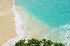 Beautiful Meads Bay beach in Anguilla Royalty Free Stock Photography