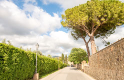 Beautiful medieval architecture and buildings of Bolgheri - Tusc royalty free stock photography
