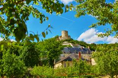 Beautiful medieval castle of La Roche-Guyon Stock Image