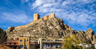 Beautiful medieval castle at Sax, Valencia, Spain Stock Photos