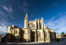 Beautiful medieval cathedral in Carcassonne Stock Photos