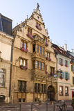 Beautiful medieval house in Colmar city, France Stock Photo