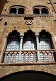 Beautiful medieval palace in Padua in the Veneto (Italy). Photo made in the center of Padua in Veneto (Italy). In the picture you see, sunlit part of the royalty free stock photography