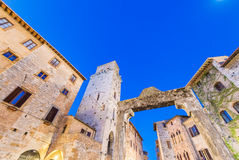 Beautiful medieval streets of San Gimignano, Italy Royalty Free Stock Photography