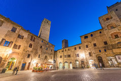 Beautiful medieval streets of San Gimignano, Italy Stock Image