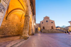 Beautiful medieval streets of San Gimignano, Italy Royalty Free Stock Photo