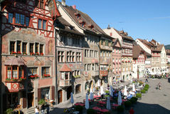 The beautiful medieval town of Stein am Rhein on Switzerland Royalty Free Stock Photos