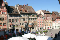 The beautiful medieval town of Stein am Rhein on Switzerland Royalty Free Stock Images
