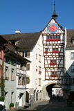 The beautiful medieval town of Stein am Rhein on Switzerland Stock Image