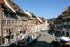 The beautiful medieval town of Stein am Rhein on Switzerland Stock Photo