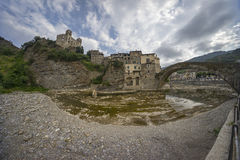 Beautiful medieval villages Dolceaqua Royalty Free Stock Photography
