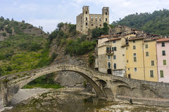 Beautiful medieval villages Dolceaqua Royalty Free Stock Images