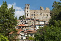 Beautiful medieval villages of Italy - Dolceaqua Stock Photos