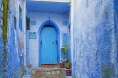 The beautiful medina of Chefchaouen, Morocco. The beautiful medina of Chefchaouen, the blue pearl of Morocco Stock Photography