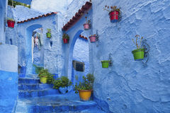 The beautiful medina of Chefchaouen, Morocco. The beautiful medina of Chefchaouen, the blue pearl of Morocco Royalty Free Stock Images