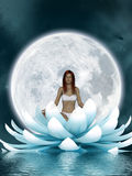 Beautiful meditation stock illustration