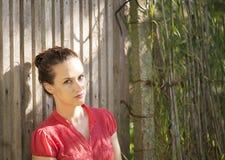 Beautiful and meditative woman Royalty Free Stock Photography