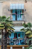 Beautiful Mediterranean balconies stock photos