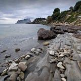 Beautiful Mediterranean Beach. Beautiful rocky beach located in the Costa Blanca of Spain Stock Image