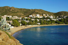 Beautiful Mediterranean beach in Costa Brava Stock Photography