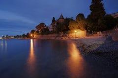 Beautiful mediterranean beach at dusk Royalty Free Stock Photos