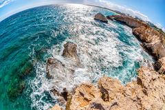Beautiful Mediterranean coastline near Ayia Napa. Famagusta Dist Stock Image