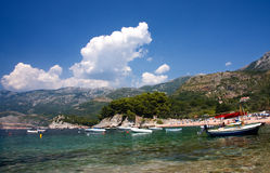 Beautiful mediterranean coastline. Sveti Stefan Royalty Free Stock Photos
