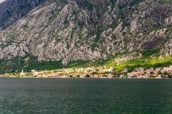 Beautiful mediterranean landscape - town Tivat, Kotor bay Boka Kotorska , Montenegro.  royalty free stock image